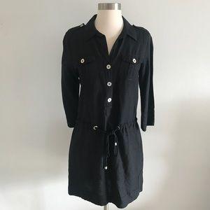Calvin Klein Black Linen Dress Sz S